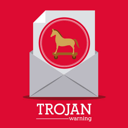 animal private: Security design over red background, vector illustration
