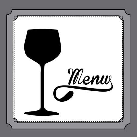 nutritive: Restaurant design over gray background, vector illustration