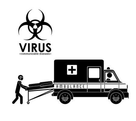 pathogen: Dise�o M�dico sobre fondo blanco, ilustraci�n vectorial