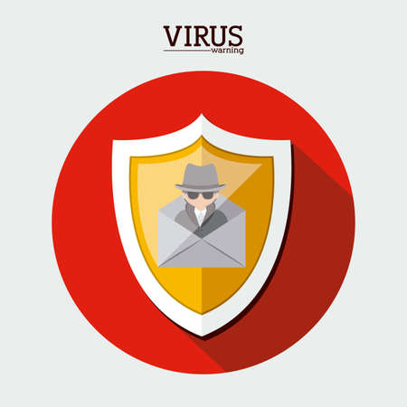 Security design over white background, vector illustration Vector