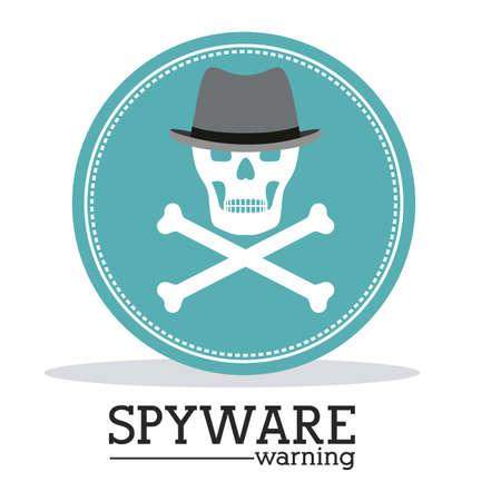 spyware: Dise�o de seguridad sobre fondo blanco, ilustraci�n vectorial