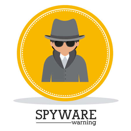 spyware: Security design over white background, vector illustration