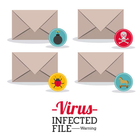 email bomb: Security design over white background, vector illustration