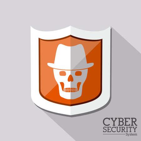 spyware: Dise�o de seguridad sobre fondo gris, ilustraci�n vectorial Vectores