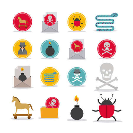 animal private: Security design over white background, vector illustration