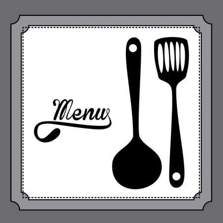 ailment: Restaurant design over gray background, vector illustration