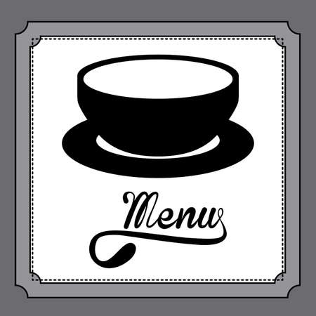 ailment: Dise�o del restaurante sobre fondo gris, ilustraci�n vectorial Vectores