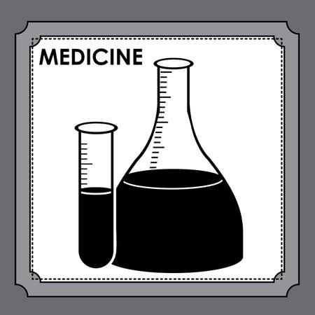 chemically: Medical design over gray background, vector illustration Illustration