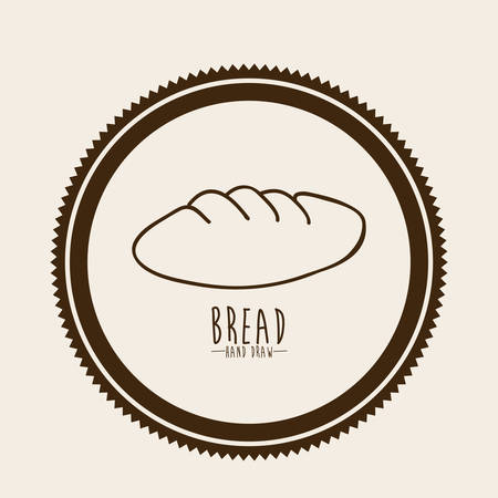 ailment: Dise�o Pan sobre el fondo beige ilustraci�n vectorial Vectores
