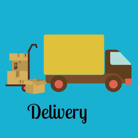 Delivery design over blue background,  vector illustration Illustration