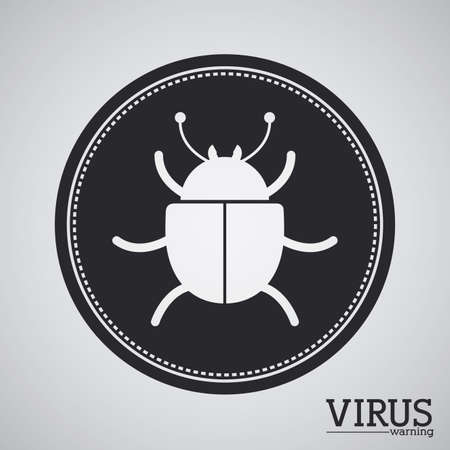animal private: Virus design over gray background