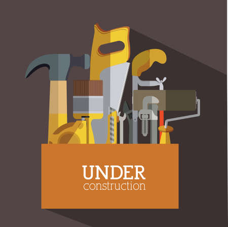 Tools design over gray background, vector illustration Vector