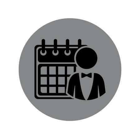 bussinesman: Bussinesman design over white background, vector illustration Illustration