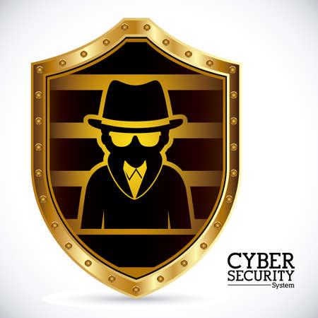 spyware: Dise�o Virus sobre fondo blanco, ilustraci�n vectorial