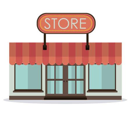 Stores design over white background,vector illustration