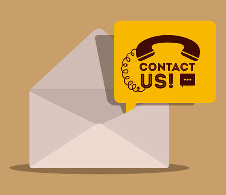 call us: Call center design over beige background,vector illustration