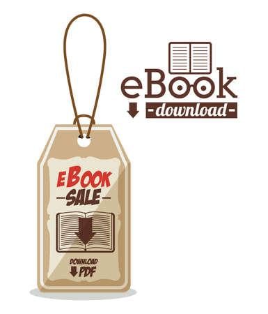 ebook cover: eBook design over white background,vector illustration Illustration
