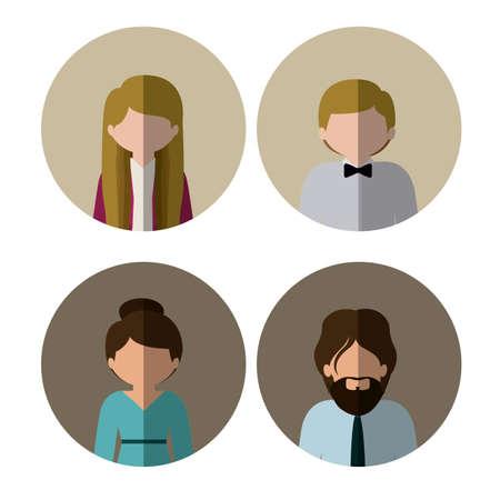 People design over white background, vector illustration Çizim