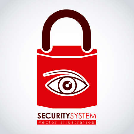 eye protectors: Security design over white background,vector illustration