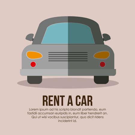 Rent a car over beige background, vector illustration Illustration