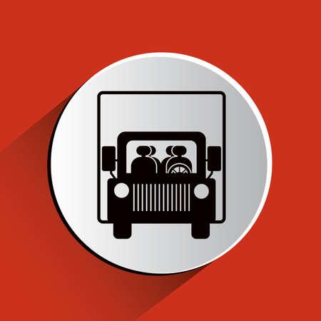 shipload: Parking design over red background, vector illustration.