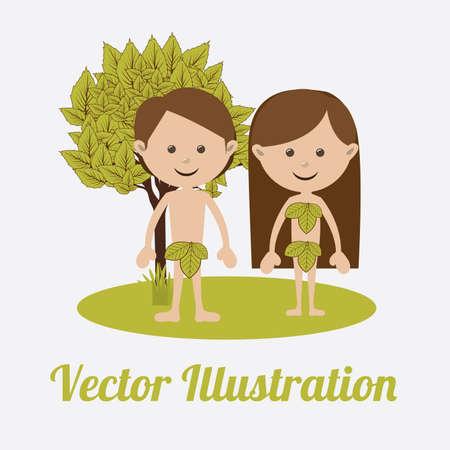 eva: Christianity  design over white background, vector illustration.