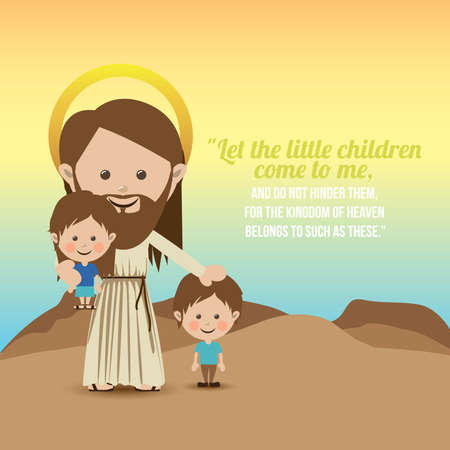Christianity design over landscape background, vector illustration.