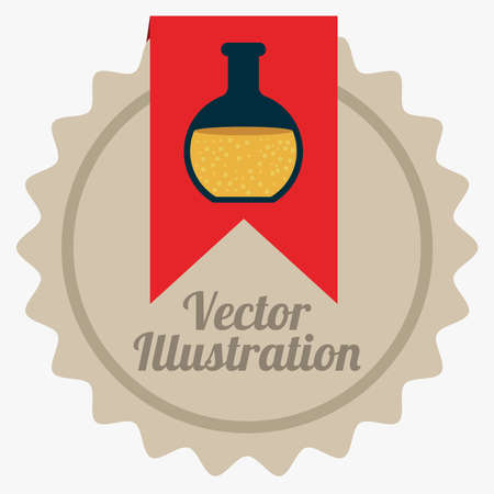 chemically: Chemical design over white background, vector illustration