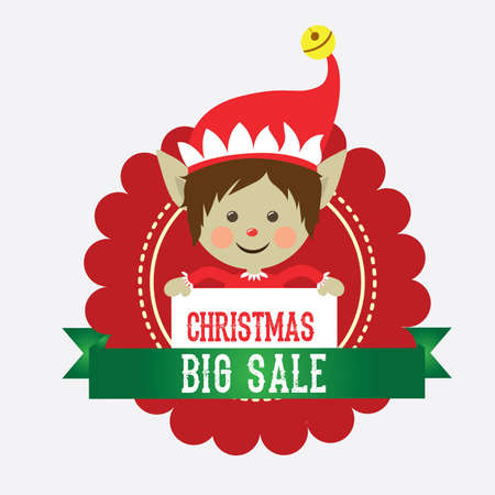 year increase: Merry Christmas design over white background, vector illustration.