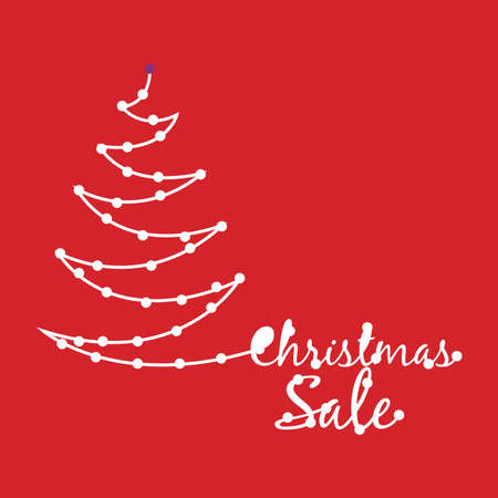 year increase: Merry Christmas design over red background, vector illustration. Illustration