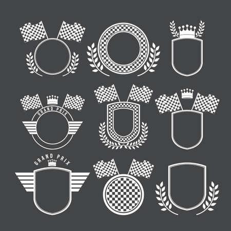 Racing design over black background,vector illustration. 向量圖像