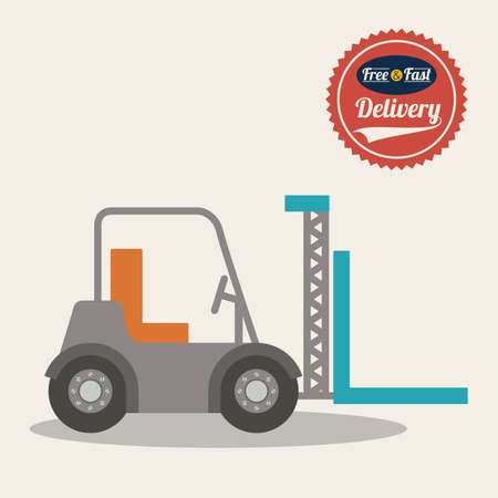 Delivery design over gray background,vector illustration.
