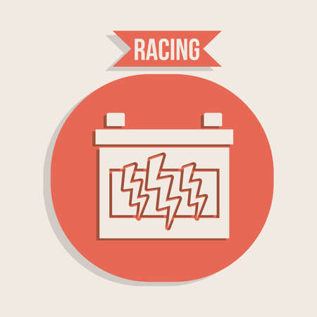 Race design over gray background, vector illustration. Vector