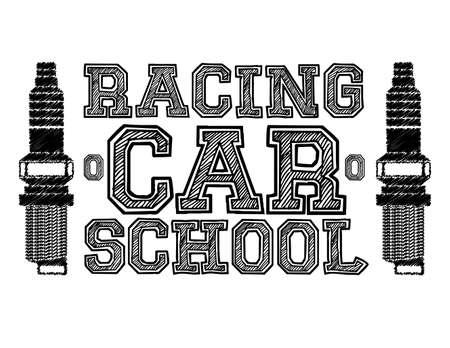 Race design over white background, vector illustration. Vector