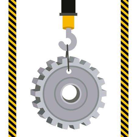 barrier tape: Construction design over white background,vector illustration. Illustration