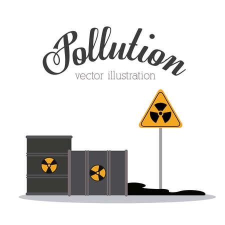 toxic barrels: Dise�o de la contaminaci�n sobre el fondo blanco, ilustraci�n vectorial. Vectores