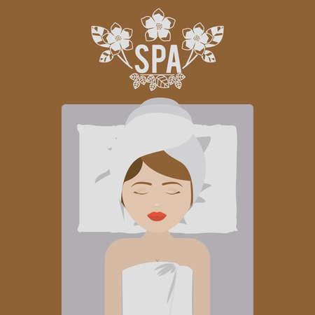people sleeping: Spa design over white background,vector illustration.