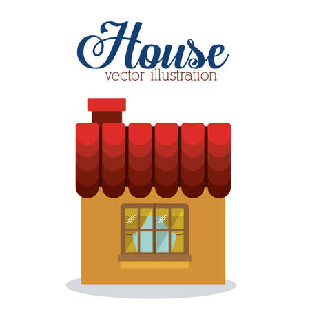 hometown: House design, vector illustration.