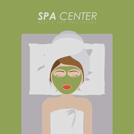 counselor: Spa design over green background,vector illustration. Illustration