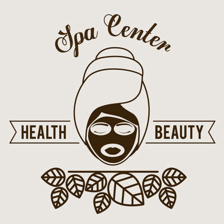 counselor: Spa design over white background,vector illustration.