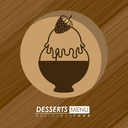 nutritive: Food design over wooden background,vector illustration.