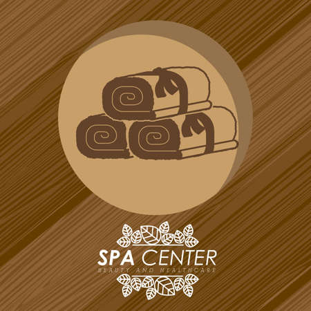 massage therapist: Spa design over wooden background, vector illustration.