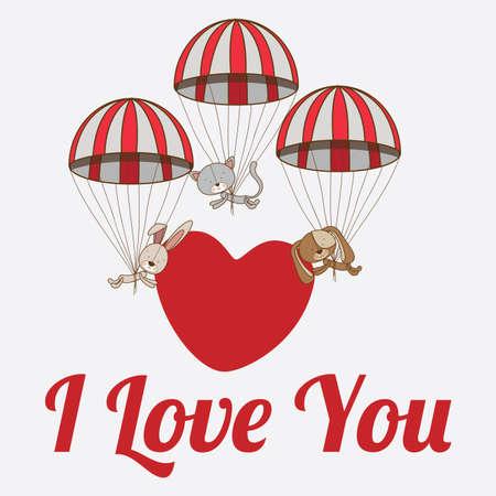 Love design over white background, vector illustration. Vector