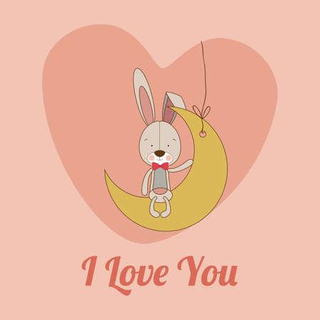 te amo: Dise�o del amor sobre fondo de color rosa, ilustraci�n vectorial.