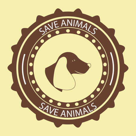 beige background: Animals design over beige background, vector illustration