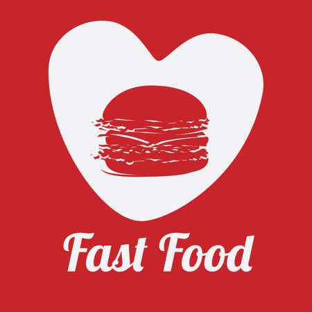nutritive: Food design over red background, vector illustration.