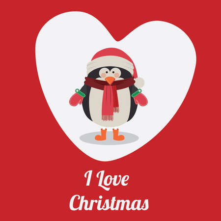 Christmas  design over red background, vector illustration. Vector