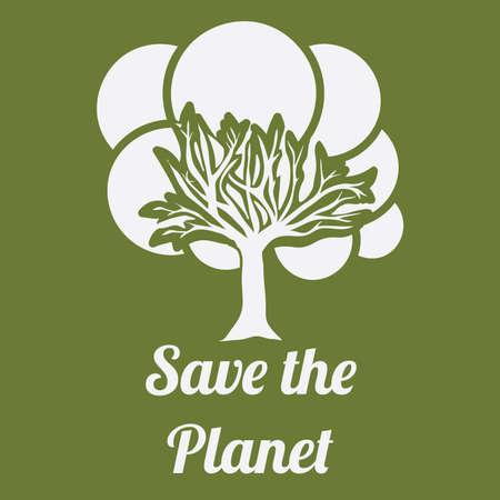 enviromental: Ecology design over green background, vector illustration. Illustration