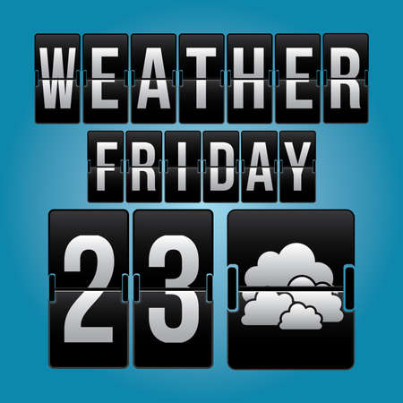 day forecast: Weather design over blue background, vector illustration.