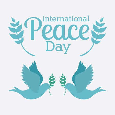 paloma de la paz: Dise�o de la paz sobre fondo blanco, ilustraci�n vectorial.